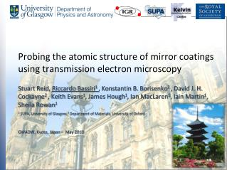 Probing the atomic structure of mirror coatings using transmission electron microscopy