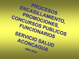 PROCESOS ENCASILLAMIENTO, PROMOCIONES, CONCURSOS PUBLICOS FUNCIONARIOS  SERVICIO SALUD ACONCAGUA