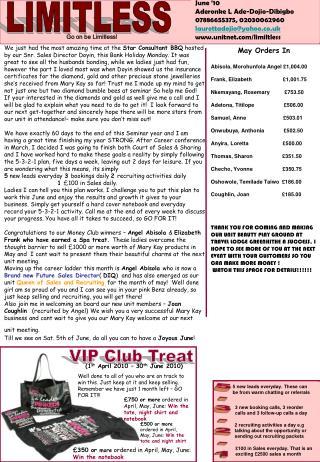 May Orders In  Abisola, Morohunfola Angel £1,004.00