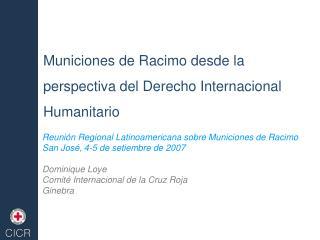 Municiones de Racimo desde la perspectiva del Derecho Internacional Humanitario