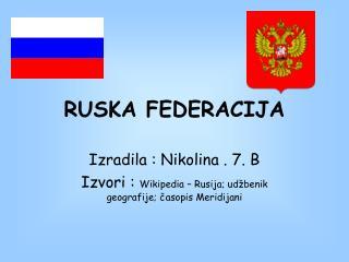 RUSKA FEDERACIJA