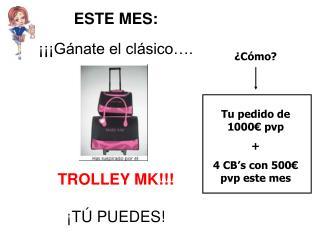 ESTE MES: ���G�nate el cl�sico�. TROLLEY MK!!! �T� PUEDES!