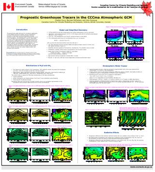 Prognostic Greenhouse Tracers in the CCCma Atmospheric GCM