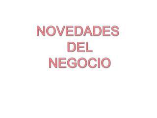 NOVEDADES  DEL NEGOCIO