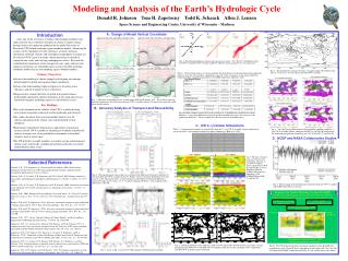 Modeling and Analysis of the Earth's Hydrologic Cycle