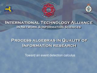 Process algebras in Quality of Information research