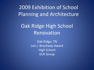 Oak Ridge High School Renovation