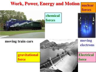 Work, Power, Energy and Motion