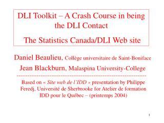 Daniel Beaulieu,  Collège universitaire de Saint-Boniface