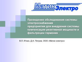 В.Л. Иткин, Д.А. Петров, ООО «Матик-электро»