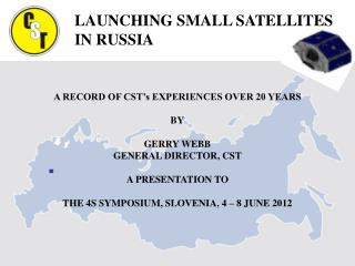 A RECORD OF CST�s EXPERIENCES OVER 20 YEARS   BY GERRY WEBB GENERAL DIRECTOR, CST