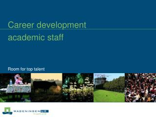 Career development academic staff