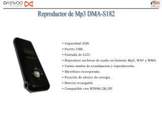 Reproductor de Mp3 DMA-S182