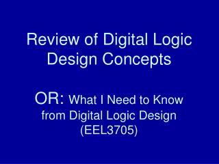 Basic Digital Logic Gates