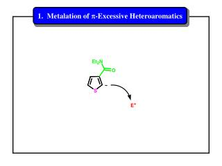 1.  Metalation of  p -Excessive Heteroaromatics