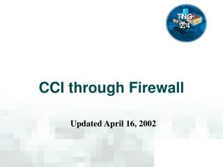 CCI through Firewall