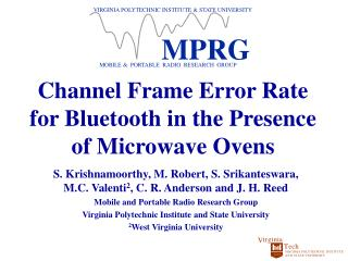 Channel Frame Error Rate for Bluetooth in the Presence of Microwave Ovens