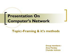 Presentation On Computer's Network