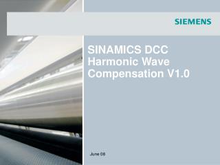 SINAMICS DCC Harmonic Wave Compensation V1.0