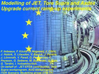 Modelling of JET, Tore Supra and Asdex Upgrade current ramp-up experiments