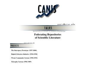 Federating Repositories of Scientific Literature