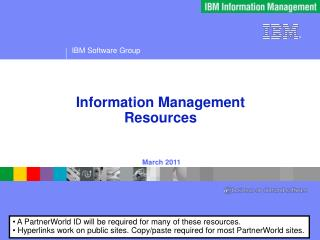 Information Management  Resources