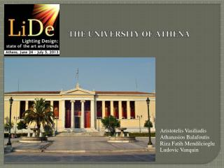 THE UN I VERS I TY OF ATHEN A