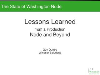 The State of Washington Node