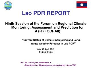 Lao PDR REPORT