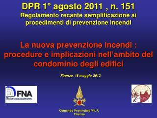 Comando Provinciale VV. F.   Firenze