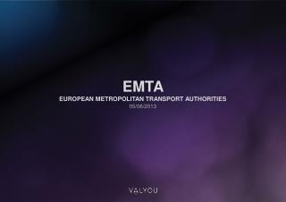 EMTA  European  Metropolitan Transport  Authorities