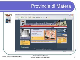 Provincia di Matera