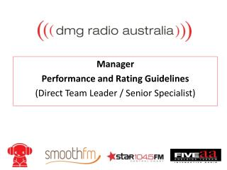 Manager Performance and Rating Guidelines  (Direct Team Leader / Senior Specialist)
