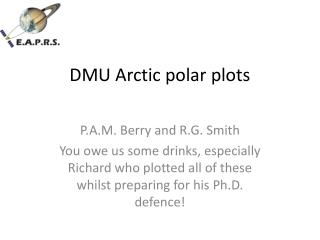 DMU Arctic polar plots