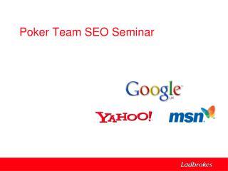 Poker Team SEO Seminar