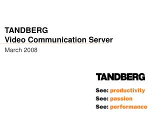 TANDBERG Video Communication Server