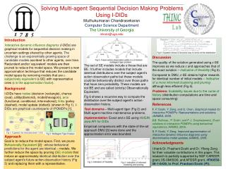 Solving Multi-agent Sequential Decision Making Problems Using I-DIDs Muthukumaran Chandrasekaran