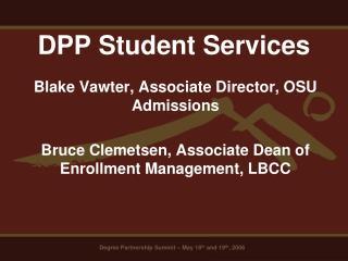 DPP Student Services
