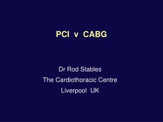 PCI  v  CABG