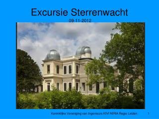 Excursie Sterrenwacht  09-11-2012