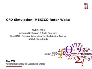 CFD Simulation: MEXICO Rotor Wake