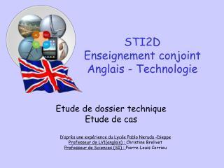 STI2D Enseignement conjoint Anglais - Technologie