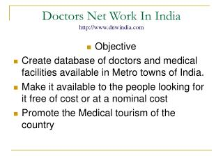 Doctors Net Work In India dnwindia