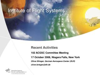 Institute of Flight Systems