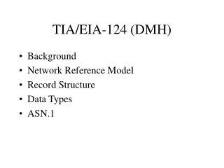 TIA/EIA-124 (DMH)