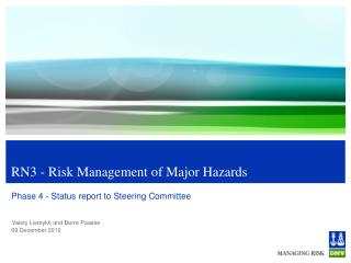 RN3 - Risk Management of Major Hazards