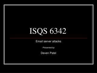 ISQS 6342
