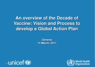 An overview of the Decade of Vaccine: Vision and Process to develop a Global Action Plan Geneva