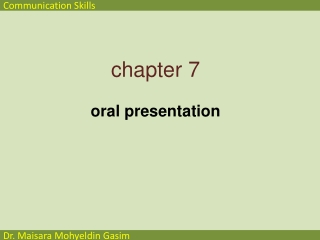Oral Presentations Workshop