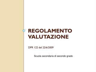 Regolamento  valutazione